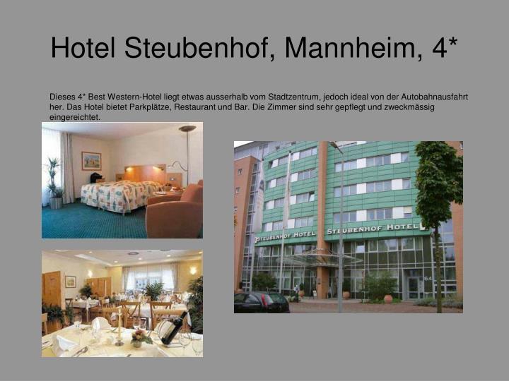 Hotel Steubenhof, Mannheim, 4*