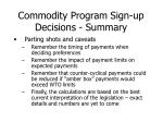 commodity program sign up decisions summary2