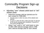 commodity program sign up decisions9