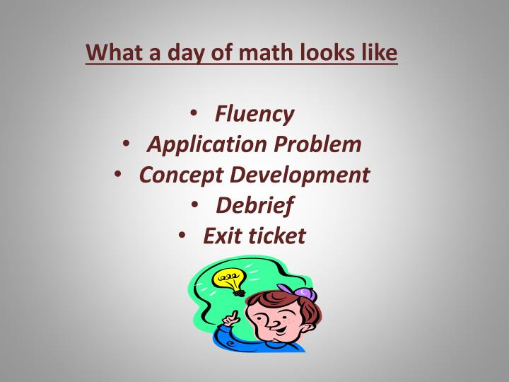 What a day of math looks like