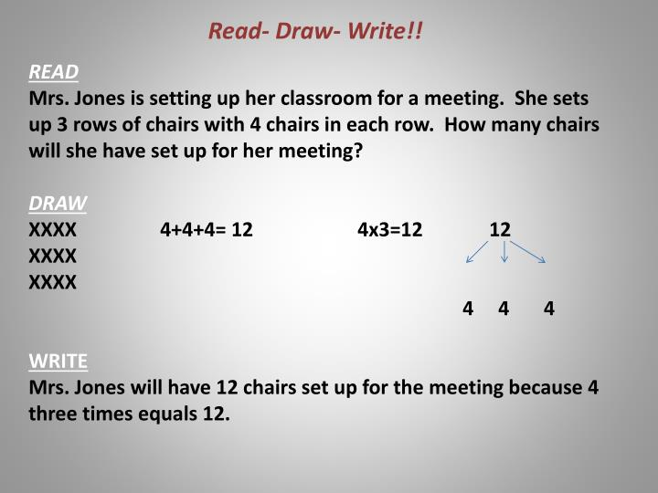 Read- Draw- Write!!