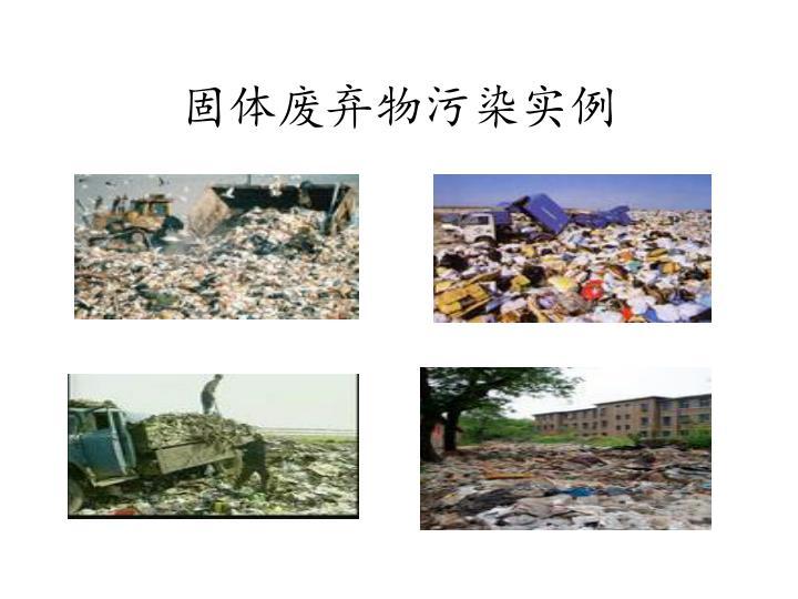 固体废弃物污染实例