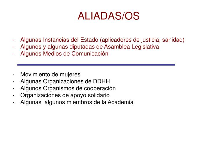 ALIADAS/OS