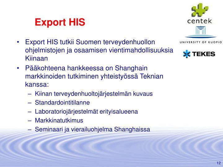 Export HIS