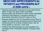 medicare improvements for patients and providers act of 2008 cont d1
