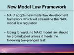 new model law framework
