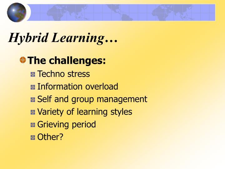 Hybrid Learning…