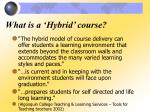 what is a hybrid course1