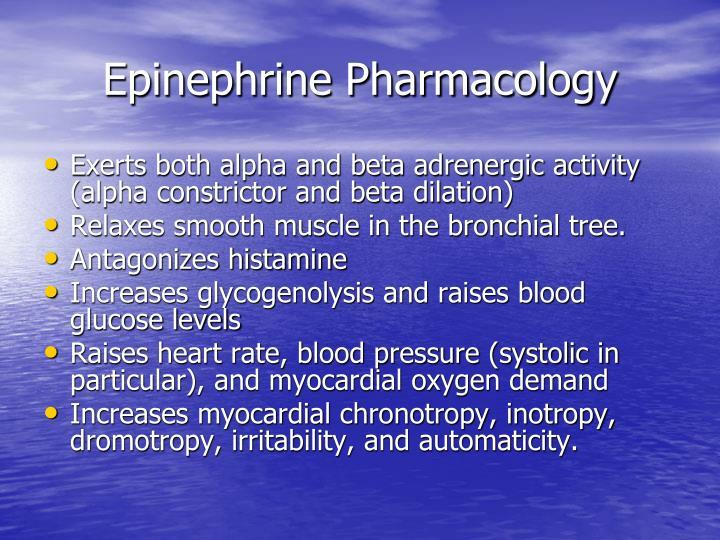 Epinephrine Pharmacology
