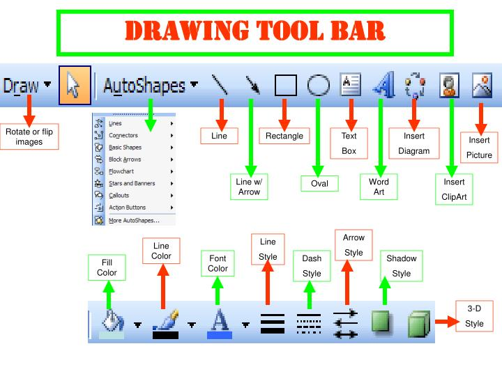 Drawing Tool Bar
