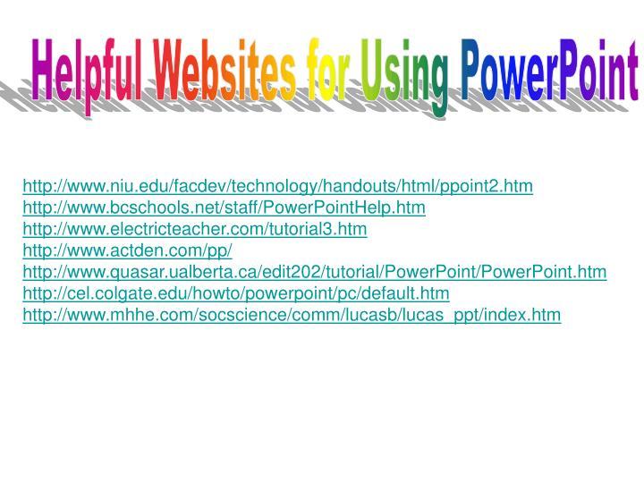 http://www.niu.edu/facdev/technology/handouts/html/ppoint2.htm