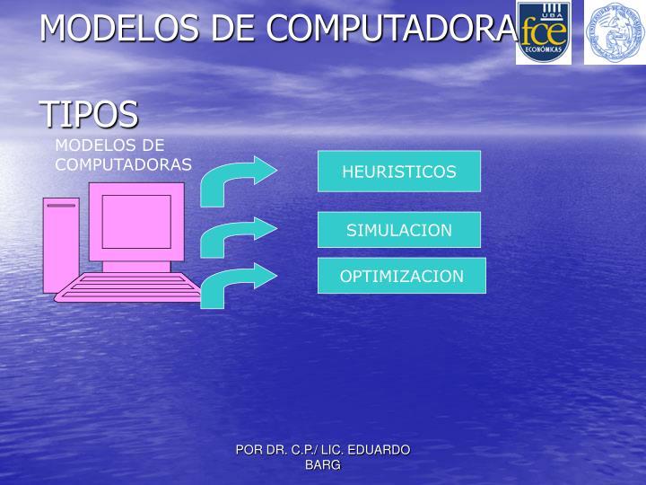 MODELOS DE COMPUTADORA