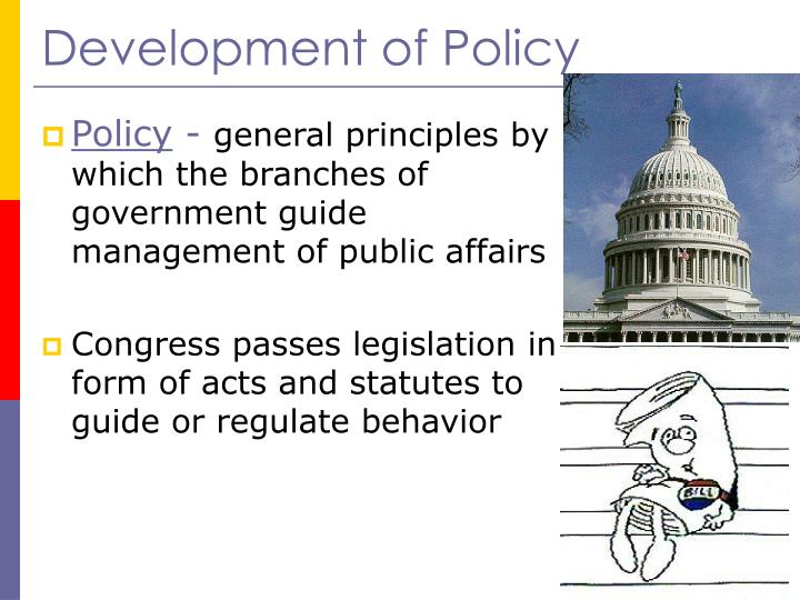 Development of Policy