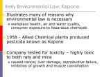 early environmental law kepone
