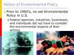 history of environmental policy