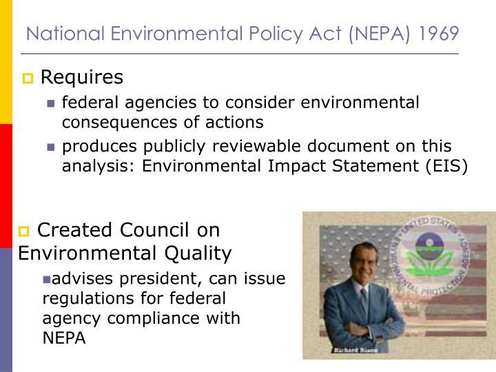 National Environmental Policy Act (NEPA) 1969