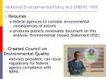 national environmental policy act nepa 1969