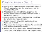 points to know dec 6