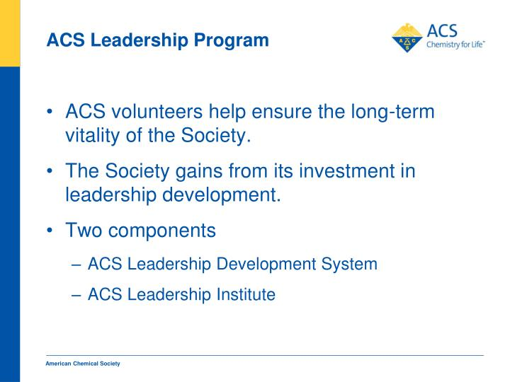ACS Leadership Program