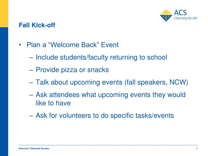 Fall Kick-off