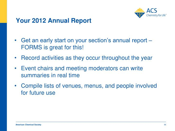 Your 2012 Annual Report