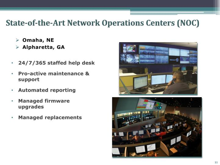 State-of-the-Art Network Operations Centers (NOC)