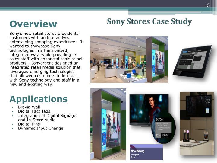 Sony Stores Case Study
