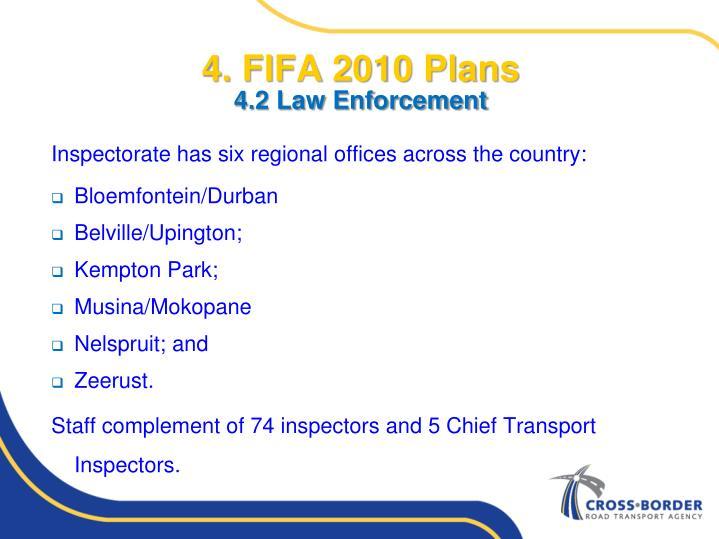 4. FIFA 2010 Plans
