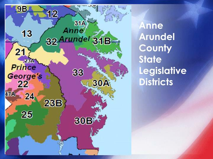 Anne Arundel County State Legislative Districts