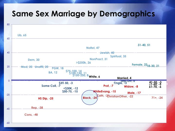 Same Sex Marriage by Demographics