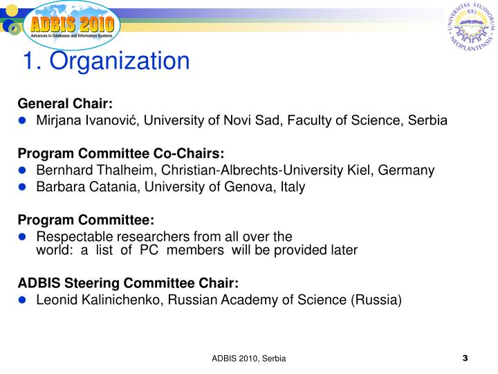 1. Organization