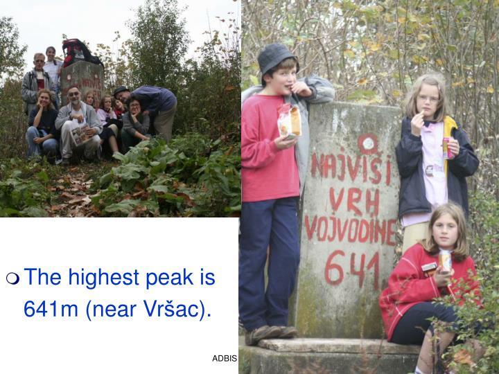 The highest peak is