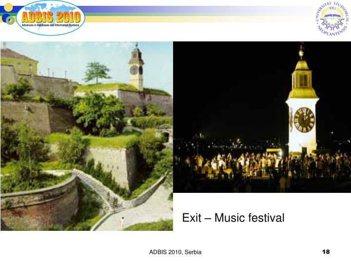 Exit – Music festival