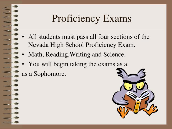 Proficiency Exams