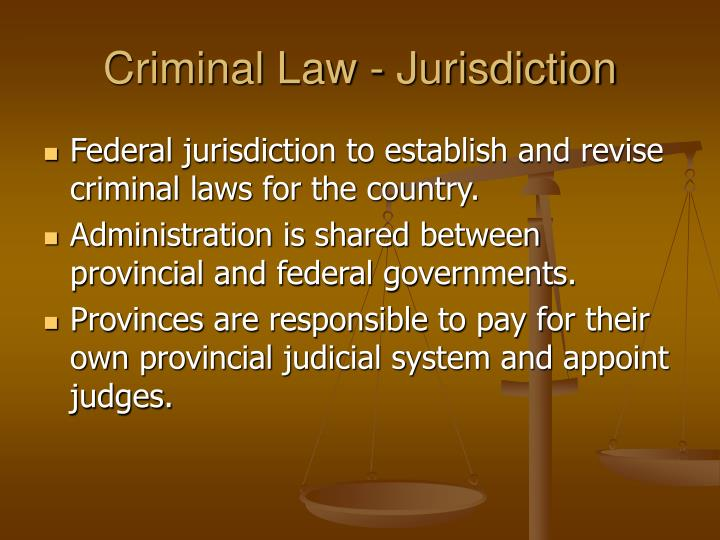 Criminal Law - Jurisdiction