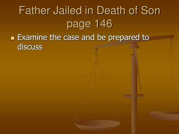 Father Jailed in Death of Son