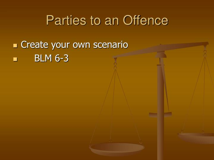 Parties to an Offence