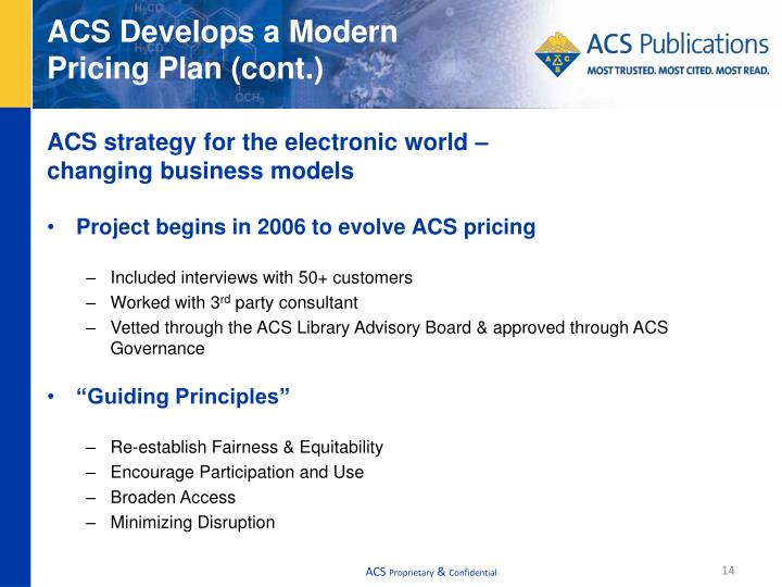 ACS Develops a Modern