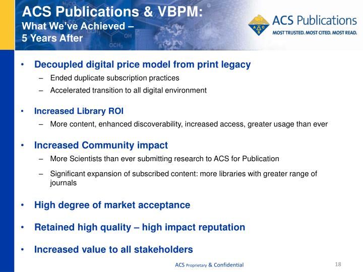 ACS Publications & VBPM: