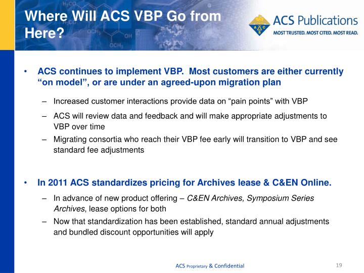 Where Will ACS VBP Go from Here?