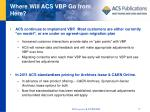 where will acs vbp go from here