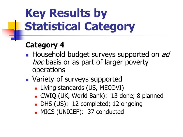 Key Results by