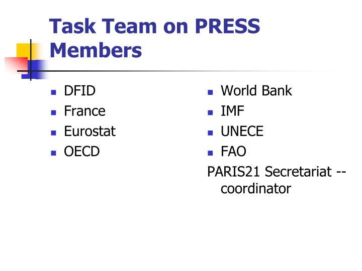 Task Team on PRESS