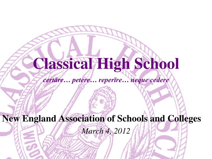 Classical high school