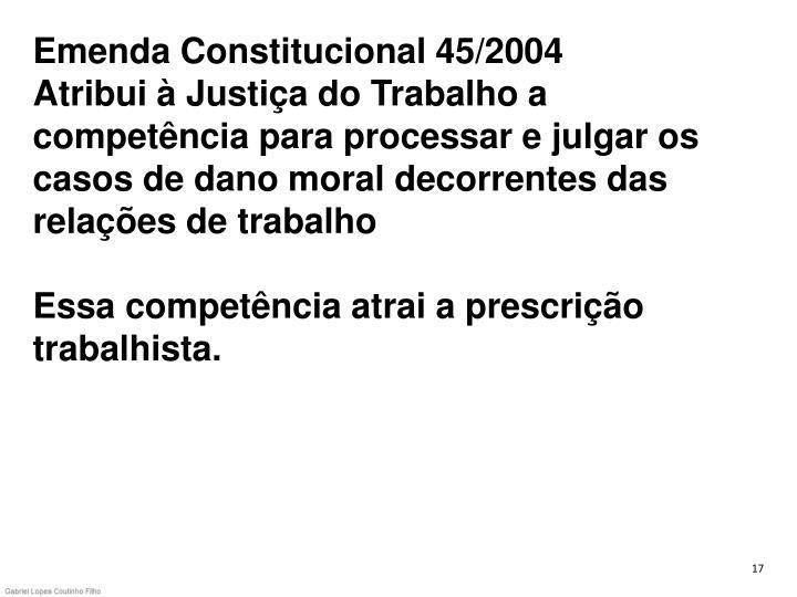 Emenda Constitucional 45/2004