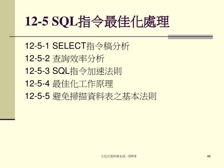 12-5 SQL