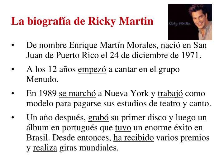 La biografía de Ricky Martin