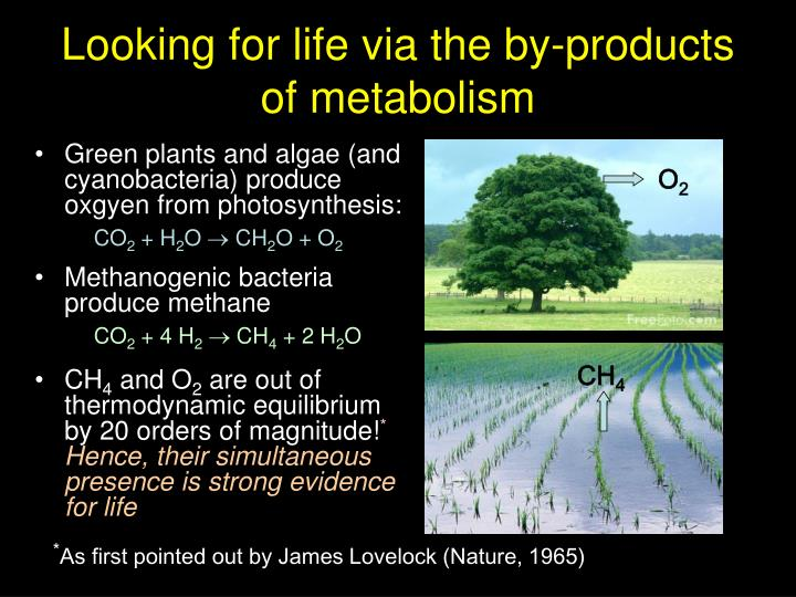 Looking for life via the by-products of metabolism