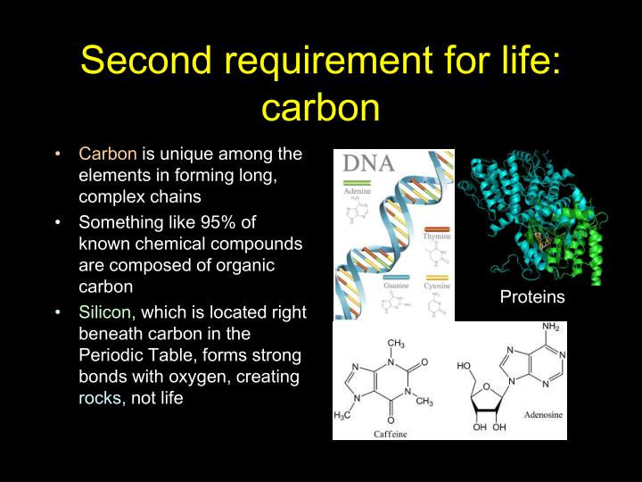 Second requirement for life: carbon