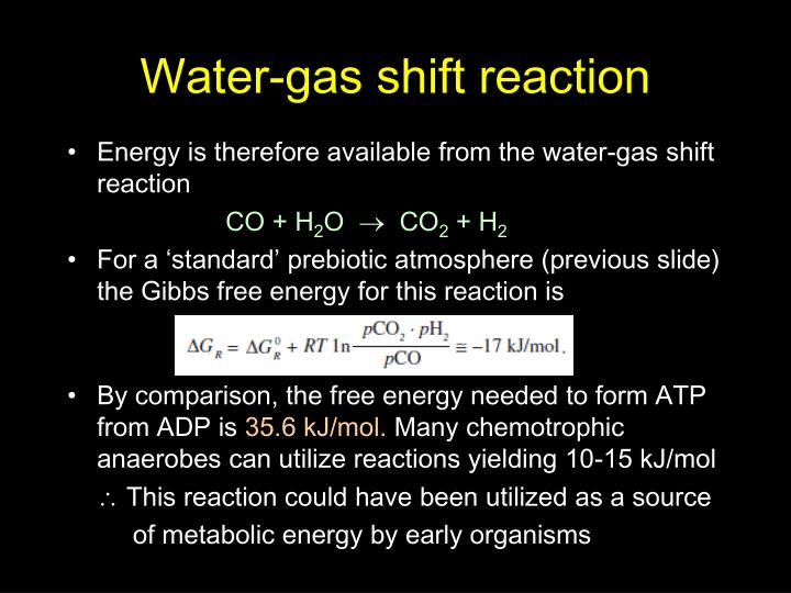 Water-gas shift reaction